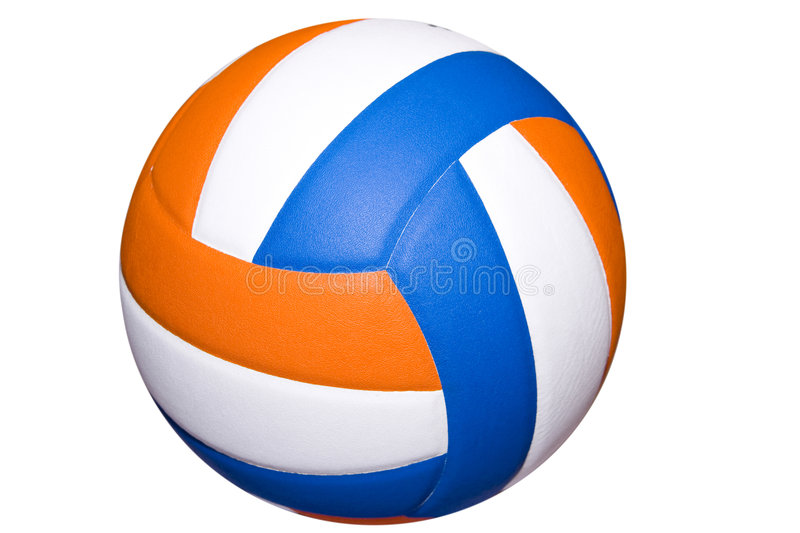 Background Abstract Sport Volleyball Blue Yellow Ball: Colorful Volleyball Stock Photo. Image Of Volleyball