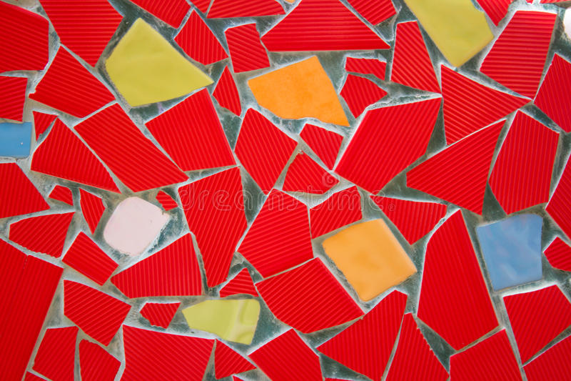 Colorful wall ceramic tile art royalty free stock photography