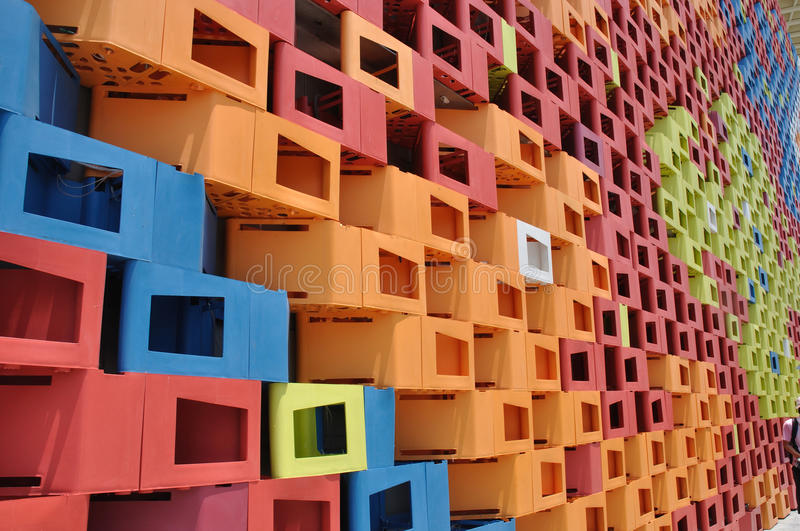 Colorful wall in shanghai world expo royalty free stock photos