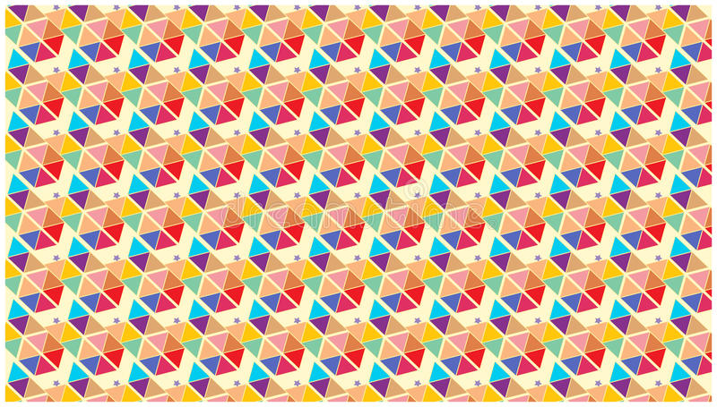 Colorful Wallpaper Stars Triangles Shapes Geometric Stock Vector
