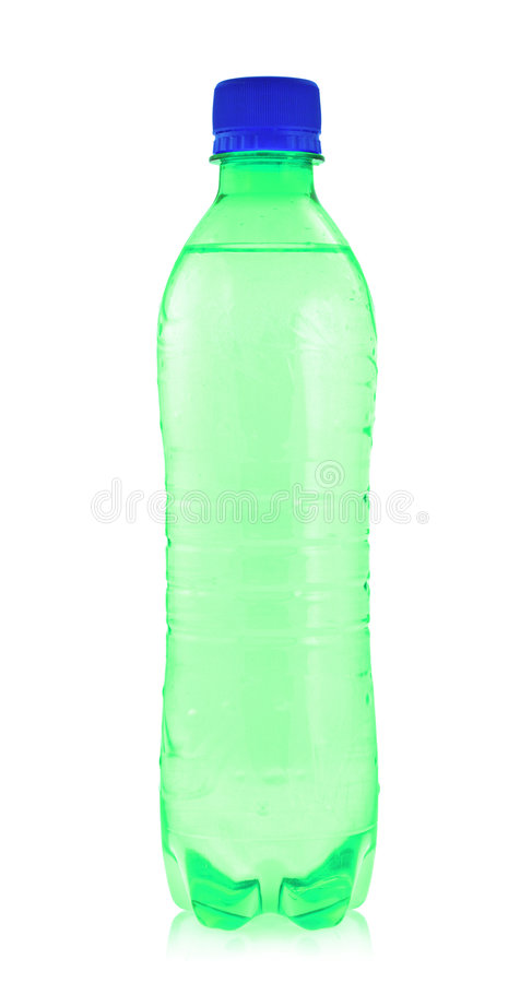Colorful water bottle royalty free stock photo