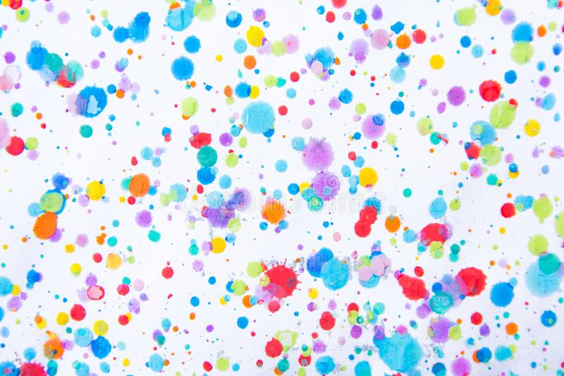 Colorful water color painting splash. Blot, Blurred spot. with t royalty free stock photos