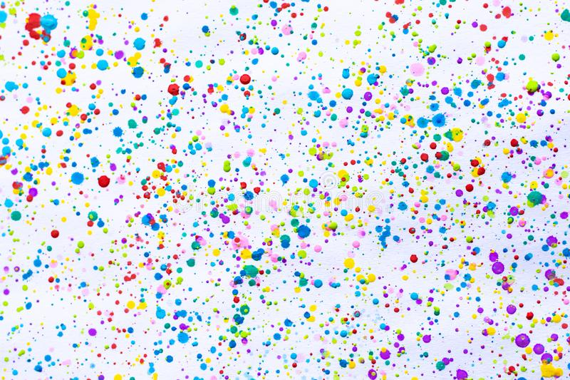 Colorful water color painting splash. Blot, Blurred spot. with texture. Multiple spots and stain water color on white background.  royalty free stock photography