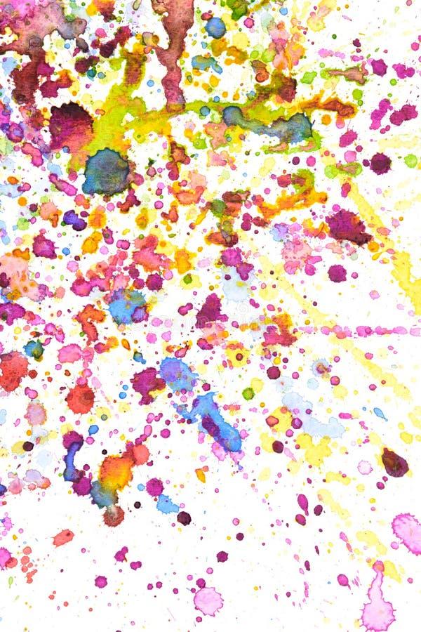 Colorful water color splash background royalty free illustration