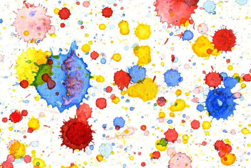 Colorful water color splash background. Colorful vivid water color splash background vector illustration