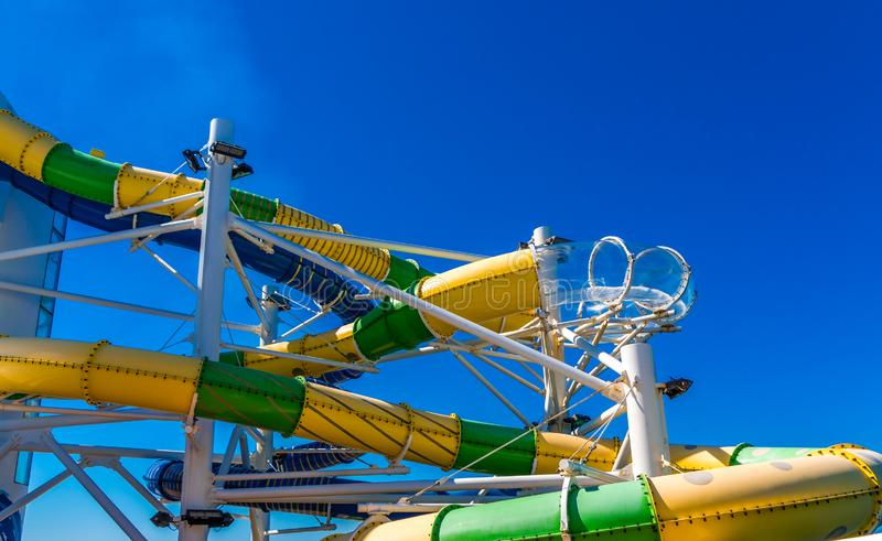 Colorful Water Slides stock images