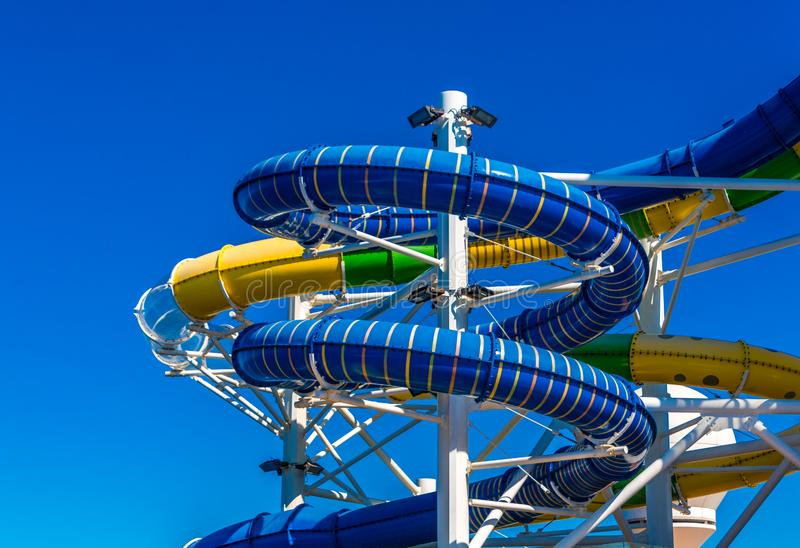 Colorful Water Slides royalty free stock photography