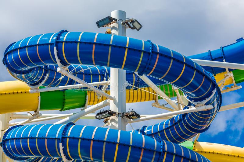 Colorful Water Slides royalty free stock image