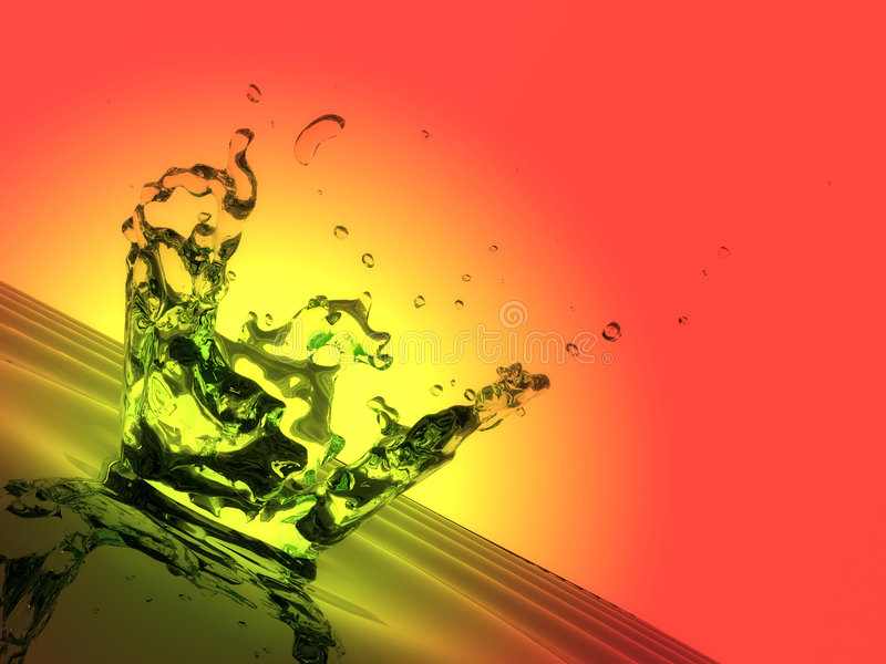 Colorful water splash. Drips and droplets royalty free illustration