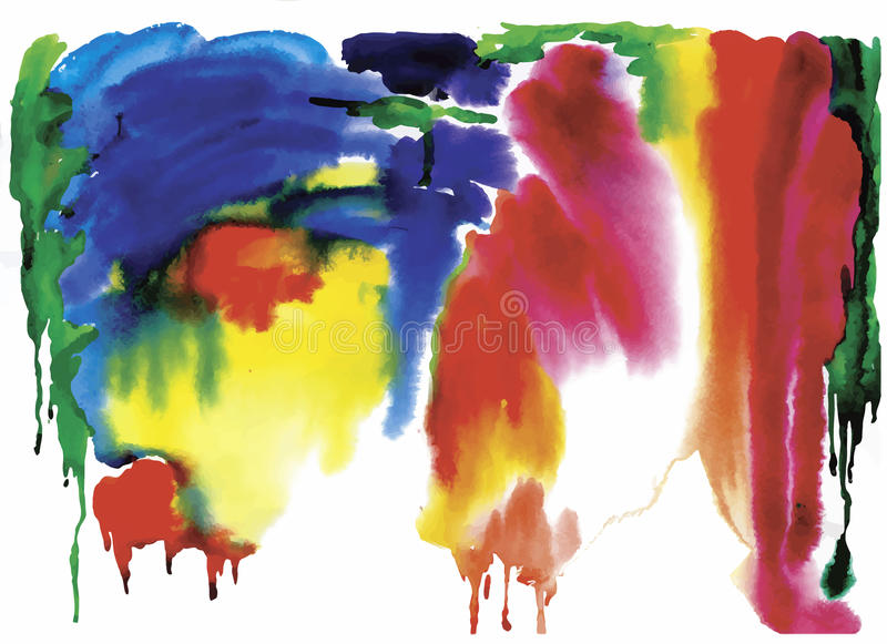 Colorful watercolor abstract background. Vector illustration stock illustration