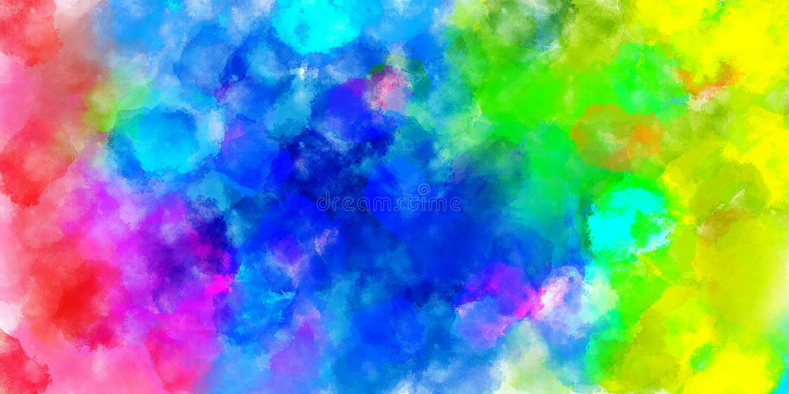The Colorful watercolor abstract pattern background. Illustration royalty free illustration