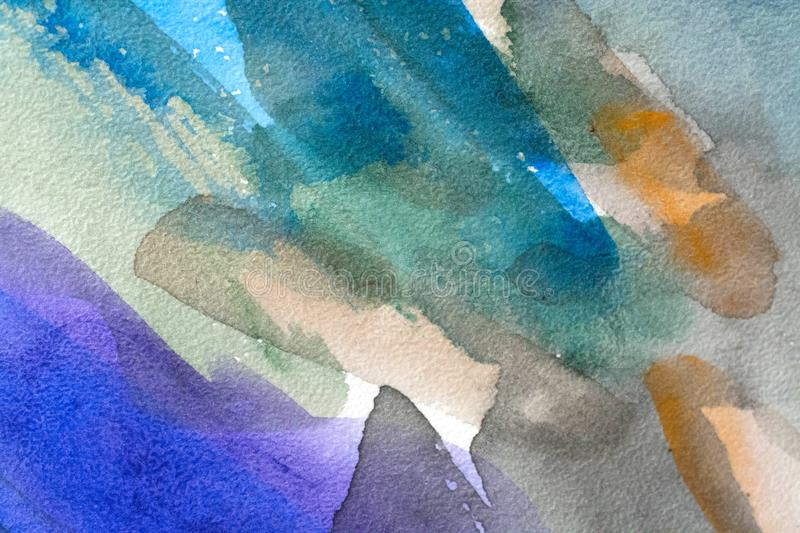 Colorful watercolor background wet stock illustration