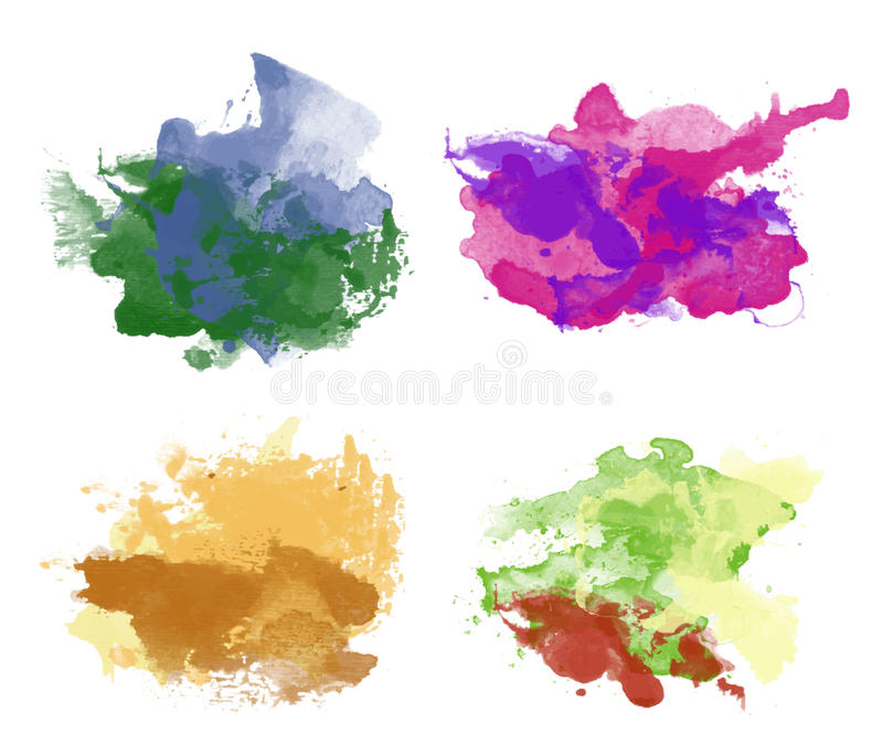 Colorful watercolor backgrounds stock illustration