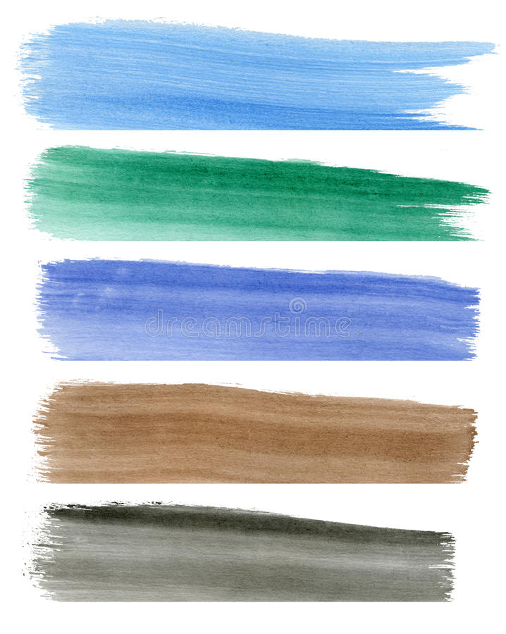 Download Colorful Watercolor Banners Stock Photo - Image of grunge, backdrop: 17001432