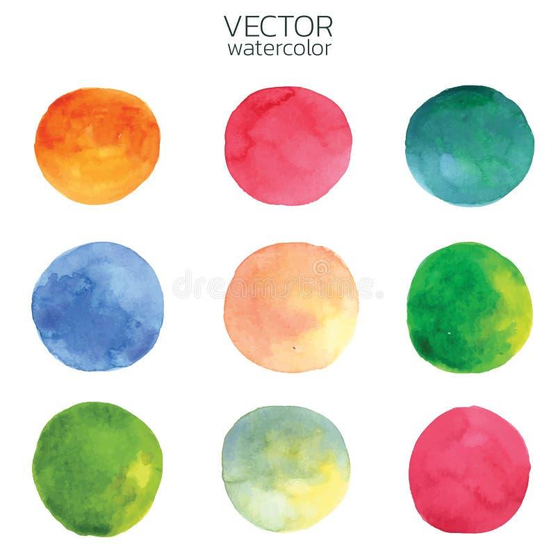 Colorful watercolor brush strokes.Vector brush stroke for design. Colorful watercolor brush strokes. Vector brush stroke for design. Abstract watercolor vector illustration