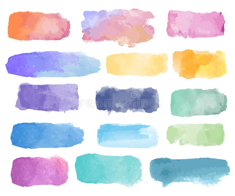 Colorful watercolor patch background vector stock illustration