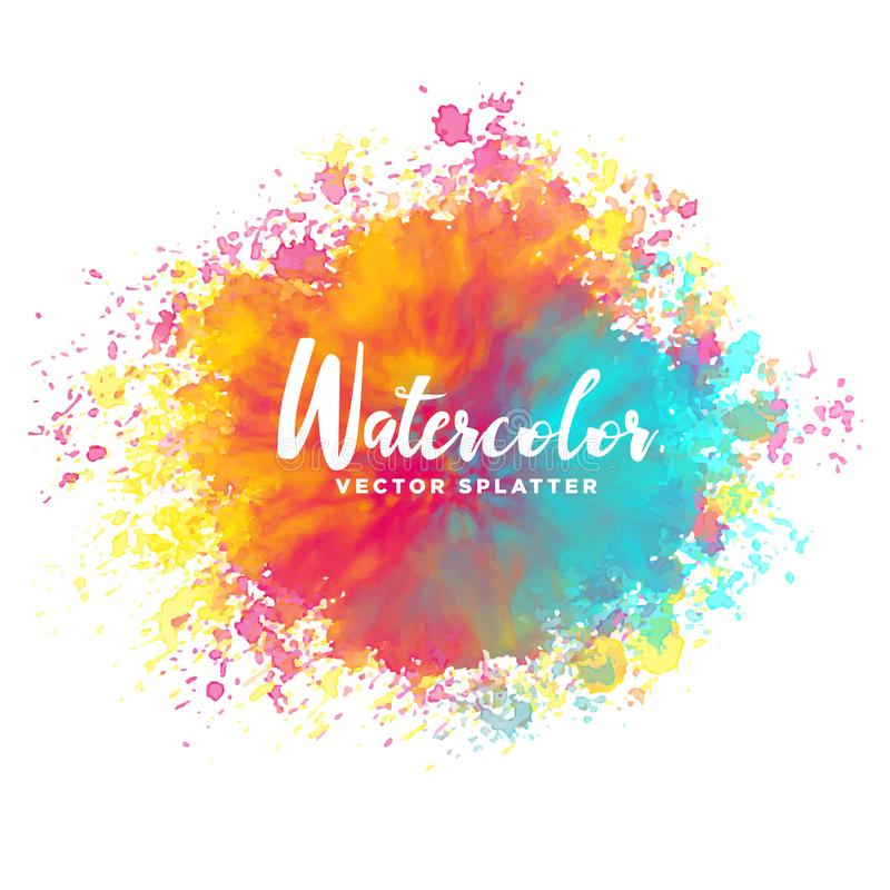 Colorful watercolor splash background vector illustration
