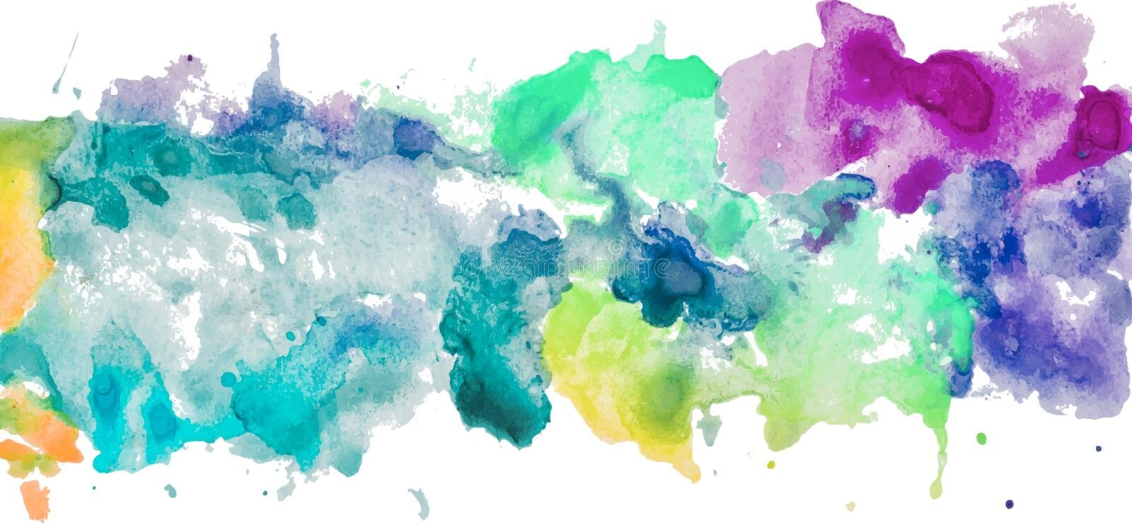 Colorful watercolor spots hand drawn paper texture royalty free illustration