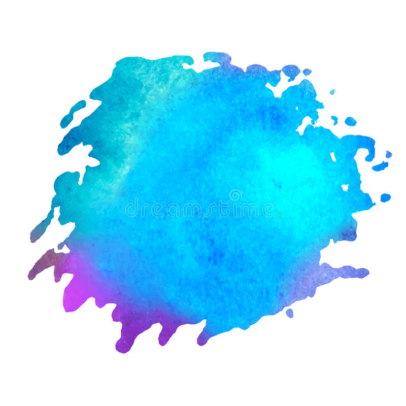 Colorful watercolor stain with aquarelle paint blotch royalty free illustration