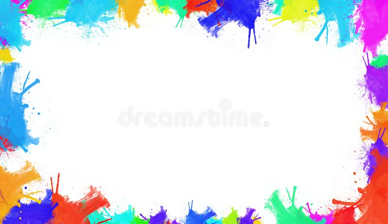 Colorful watercolor texture. Contemporary art. Wet splash. royalty free illustration