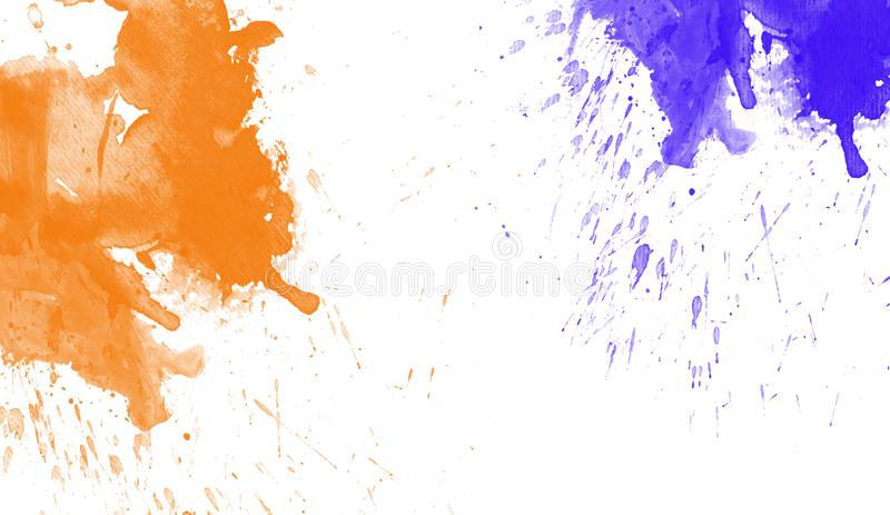 Colorful watercolor texture. Contemporary art. Wet splash. royalty free stock photos