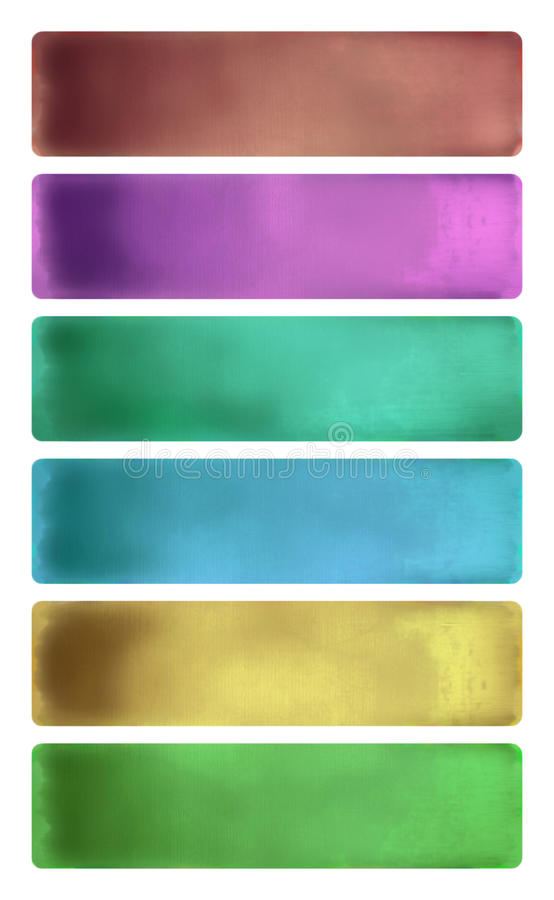 Download Colorful Watercolor Textured Banner Set Stock Illustration - Image: 16108709