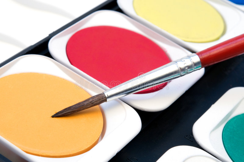 Download Colorful watercolour stock photo. Image of bright, paint - 6095424