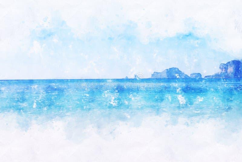 Watercolor Beach Images, Stock Photos & Vectors   Shutterstock