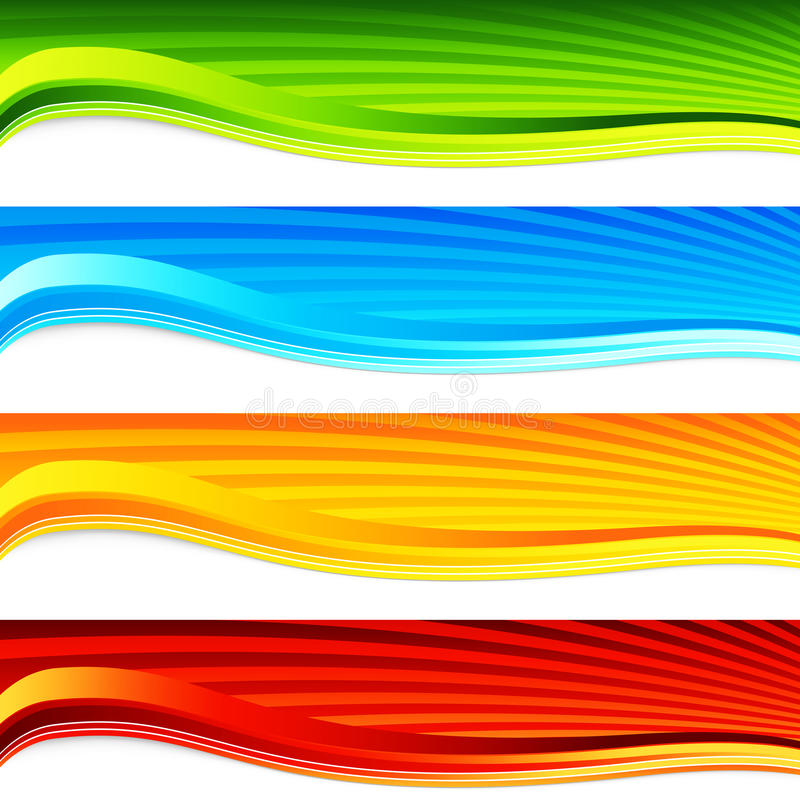 Download Colorful Wave Sunrise Banner Set Stock Photo - Image: 23244250
