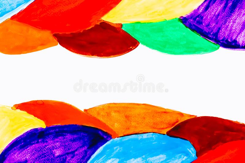 Colorful wave watercolor background with copy space use for add text stock images