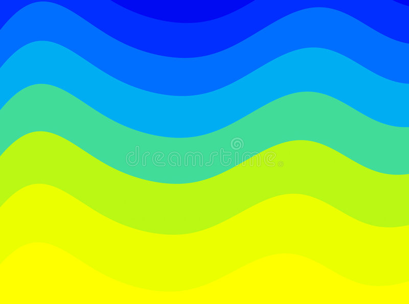 Colorful waves royalty free illustration