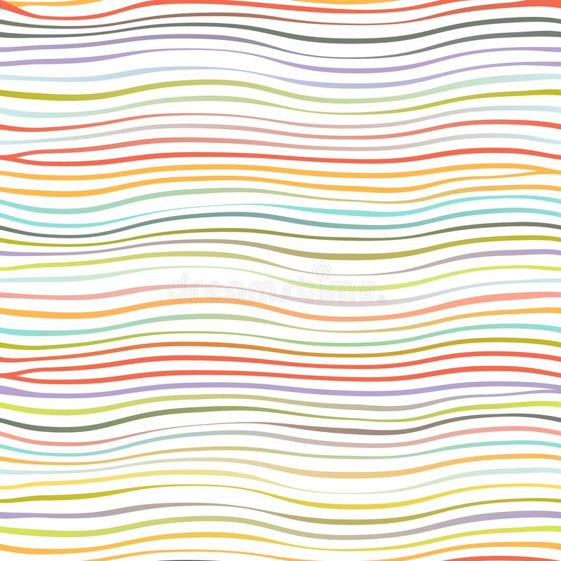 Colorful waves abstract geometric template design seamless background isolated on white vector illustration. Colorful waves abstract template geometric design vector illustration