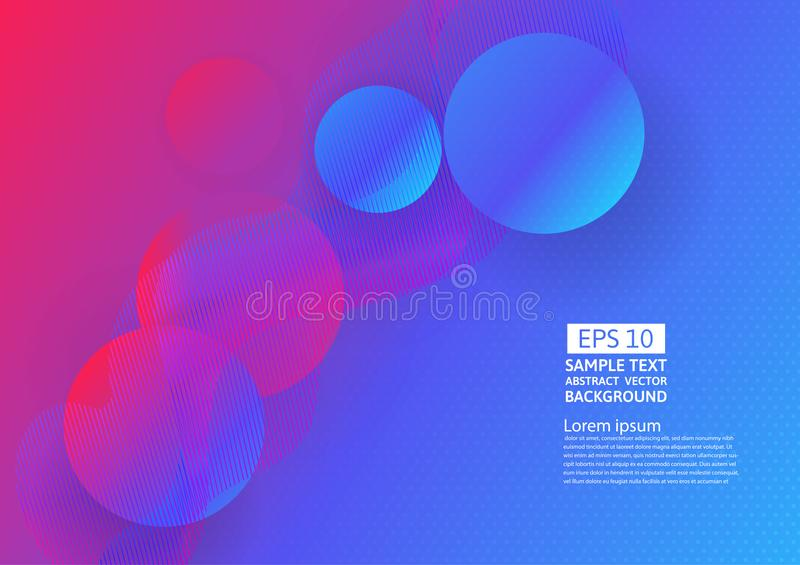 Colorful waves and geometric abstract background design. vector illustration stock illustration