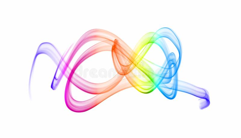 Colorful waves of light royalty free stock photos