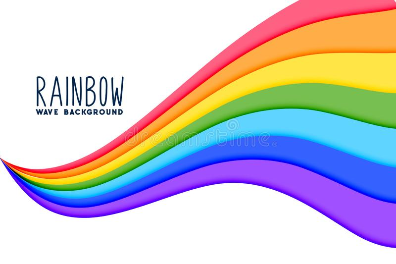 Colorful wavy rainbow flow background. Vector royalty free illustration