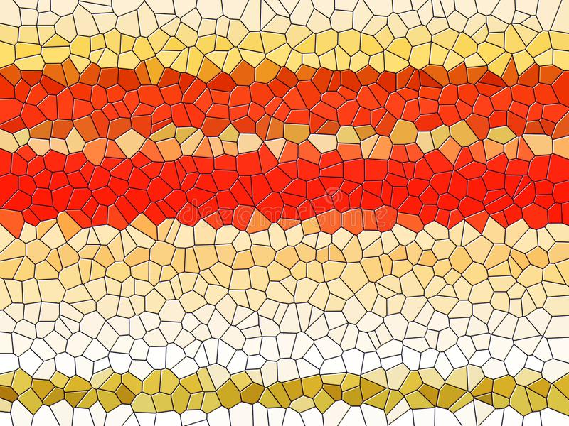 Colorful wax like shapes, abstract orange yellow background stock images