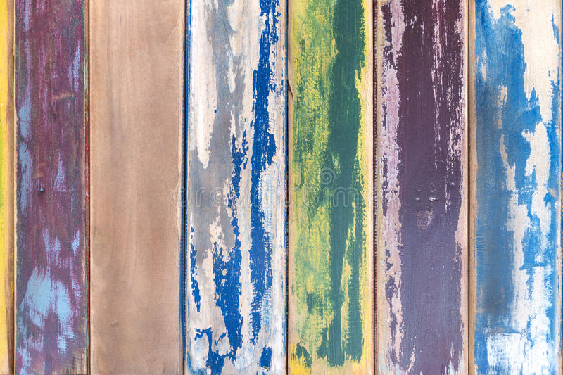 Colorful weathered wooden boards stock images
