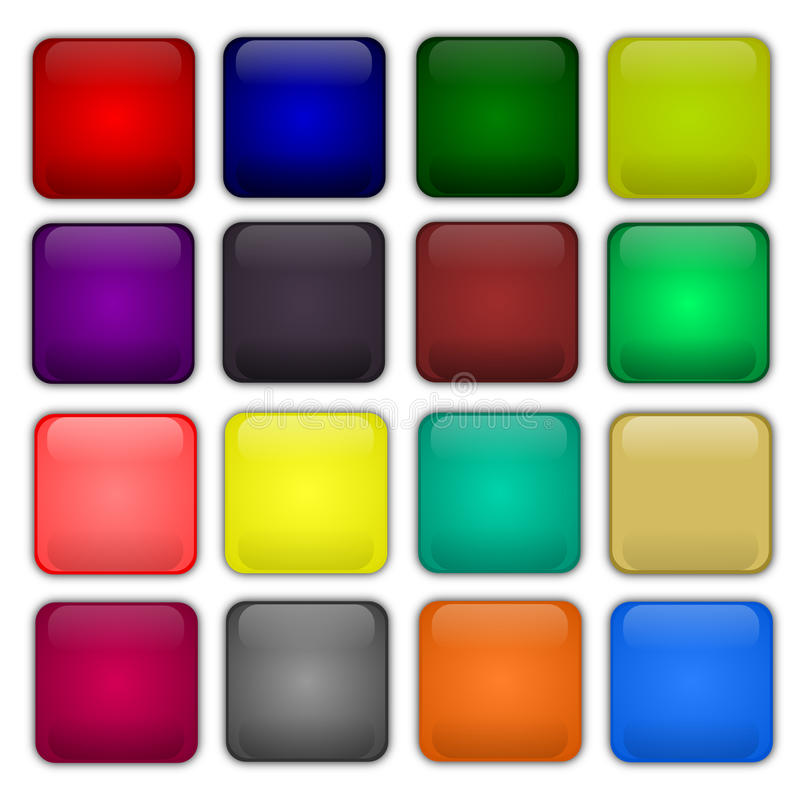 Colorful web buttons royalty free illustration