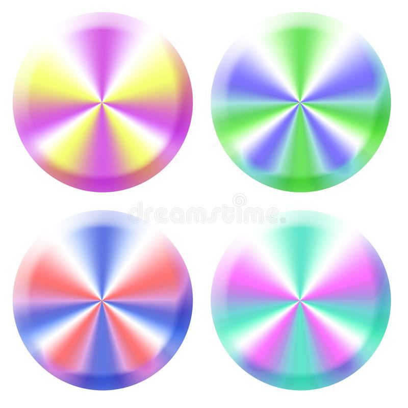 Colorful Web Buttons Free Stock Photography