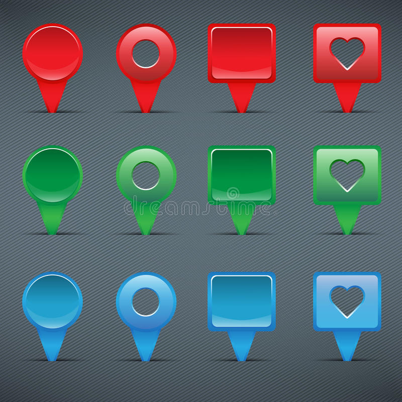 Free Colorful Web Buttons, Checkboxes, Pointers Stock Images - 31323244