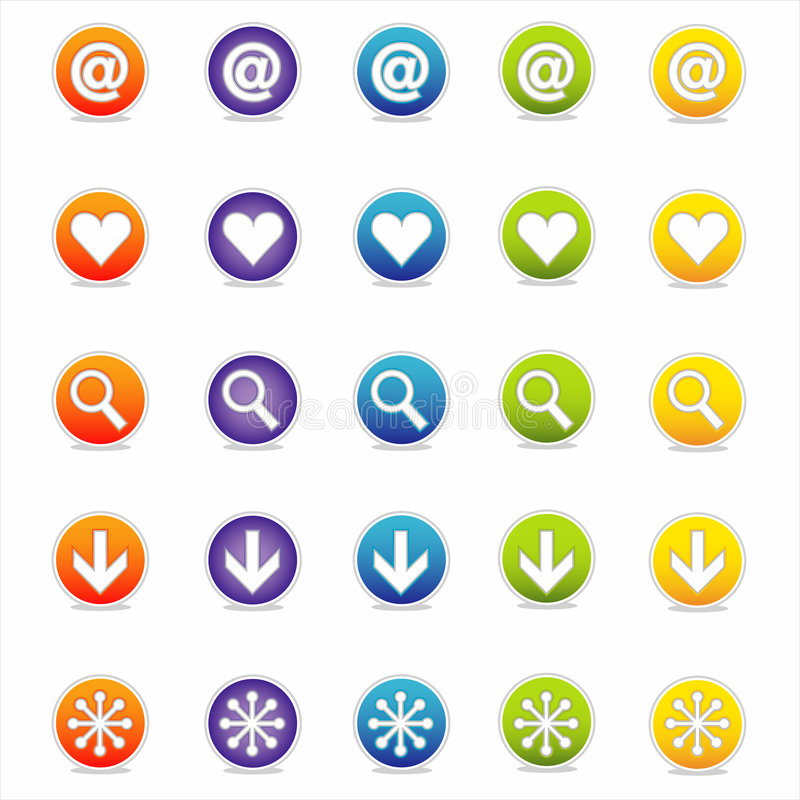 Download Colorful Web Icons 1 (Vector) Stock Photography - Image: 2564852