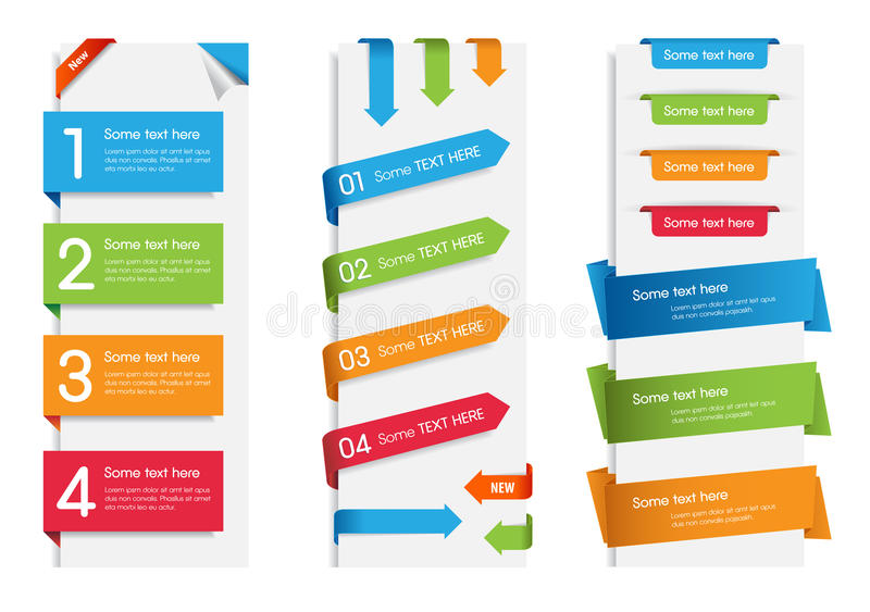 Colorful Web Stickers, Tags and Labels stock illustration