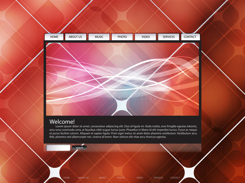Colorful Website Template royalty free illustration