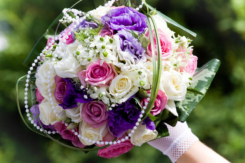 Colorful Wedding Bouquet Royalty Free Stock Photography