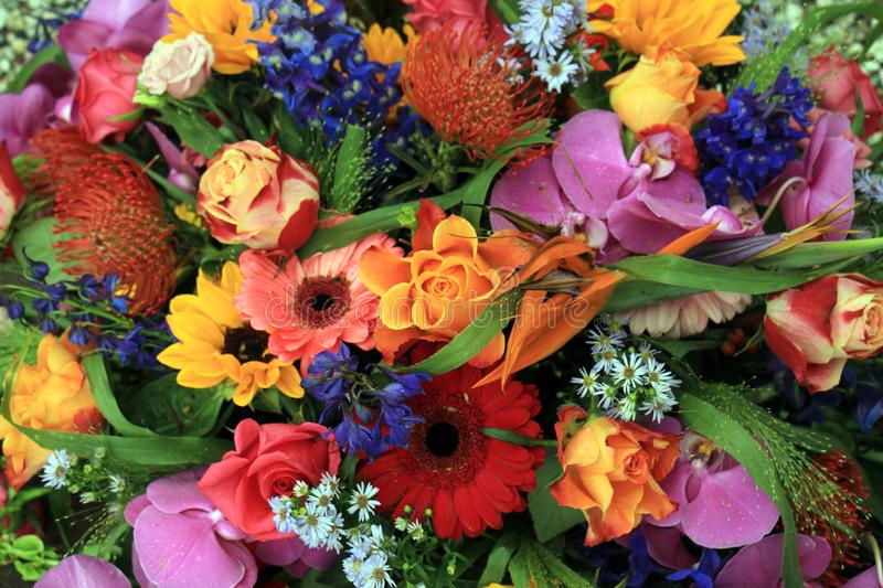 Colorful wedding flowers royalty free stock photos