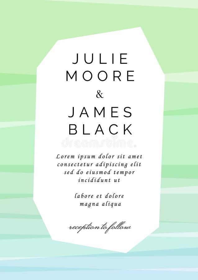 Colorful Wedding Invitation Template Stock Vector - Illustration of ...