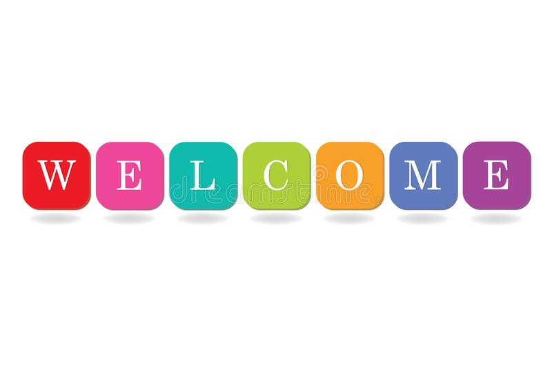Colorful Welcome Sign Word Alphabet Symbol Design For R Web Banner