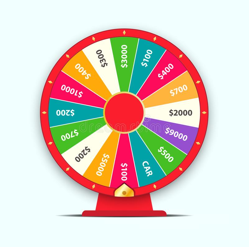 Colorful wheel of fortune. Vector illustration. High Quality Vector Illustration in EPS 10 stock illustration