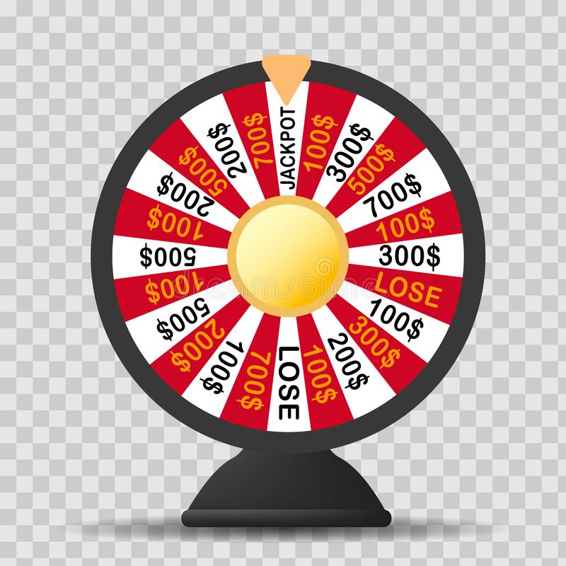 Colorful wheel of luck or fortune infographic. Vector illustration royalty free illustration
