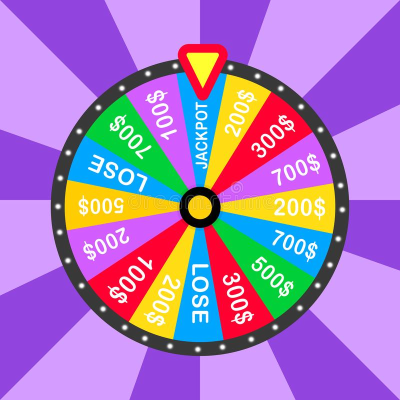 Colorful wheel of luck or fortune infographic. Vector illustration vector illustration